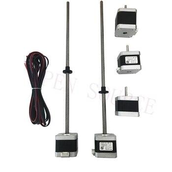 1set 3D printer Prusa i3 MK2 MK2S MK3 stepper motors, 320mm Z Axis Motor w/ Trapezoidal Lead Screw, For mini-Rambo, Einsy Rambo