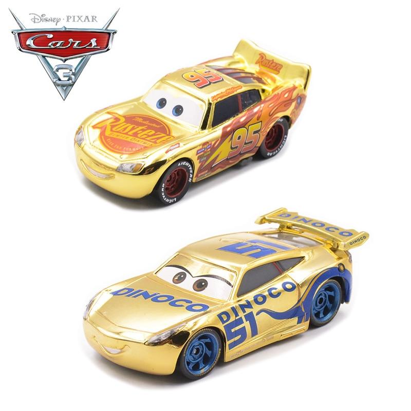 cars 3 toys  US $6.66 6% OFF|Newest Disney Pixar Cars 6 Metal Car Toy Golden Lightning  McQueen Dinoco Cruz Ramirez Model Kids Educational Toy Vehicles Gift-in ...