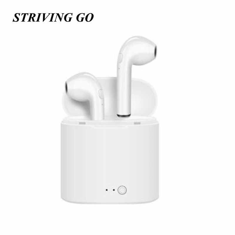 I7s TWS słuchawki Bluetooth Mini True bezprzewodowe douszne słuchawki bezprzewodowe sportowe słuchawki dla iPhone Android z etui z funkcją ładowania