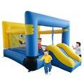 Yard dhl frete grátis bouncer inflável bonito dos desenhos animados castelo inflável com escorregador para crianças