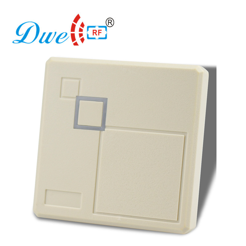 DWE CC RF access control card reader low frequency 125khz white chip card reader with rs232 or rs485 interface optional