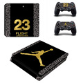 Basketball Star Legend Michael Jordan PS4 Slim Skin Sticker For Sony Play Station 4 Slim Console and 2 Controller Decals