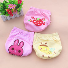 1PCS RETAIL Baby Diapers /Nappies Cloth Diaper/Nappy Toddler Girls Boys waterproof cotton potty training pants 4 layers R2KRE8(China)