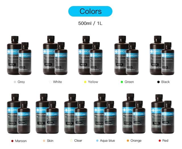 ANYCUBIC Photon 405nm Resin for Photon 3D Printer LCD UV Sensitive Resin 1L Liquid Printing Material Photosensitive Uv Resin