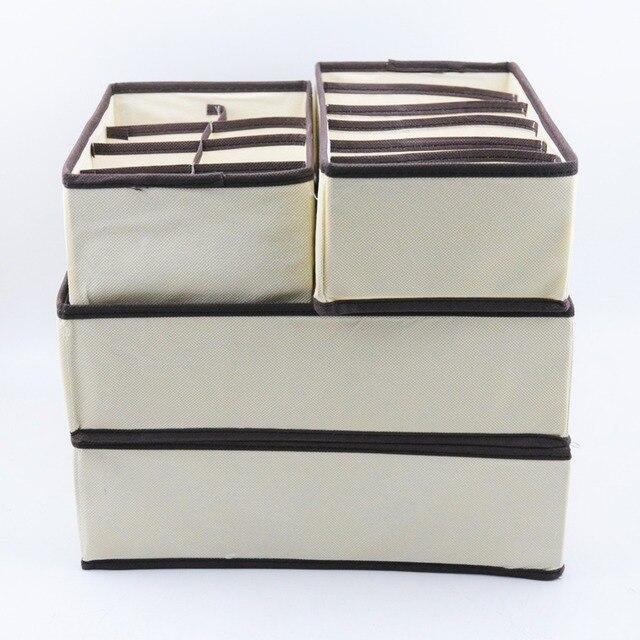 Multi-size Underwear Bra Organizer Storage Box Drawer Closet Organizers Boxes For Underwear Scarf Socks Bra Home Storage