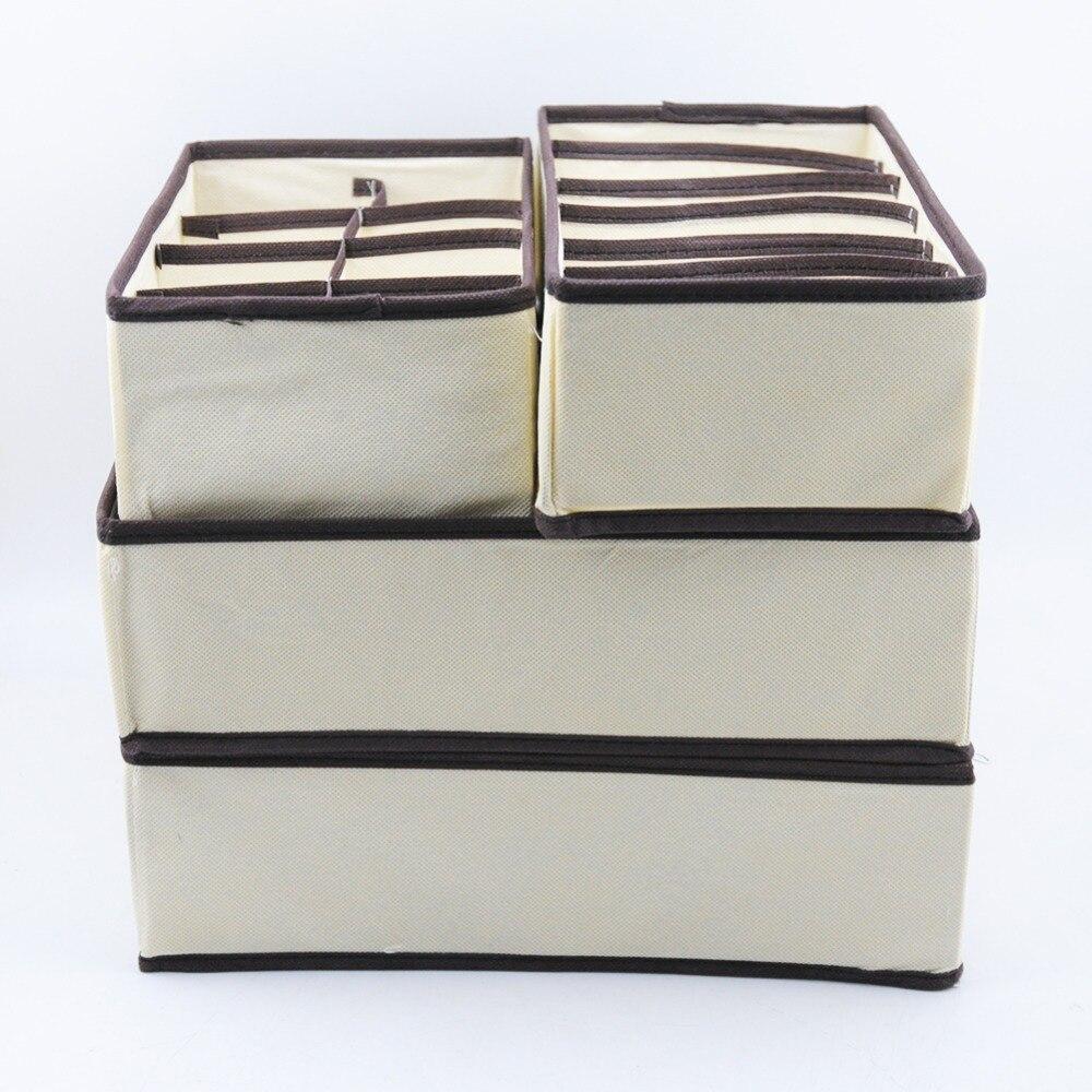 boxes:  Multi-size Underwear Bra Organizer Storage Box Drawer Closet Organizers Boxes For Underwear Scarf Socks Bra Home Storage - Martin's & Co