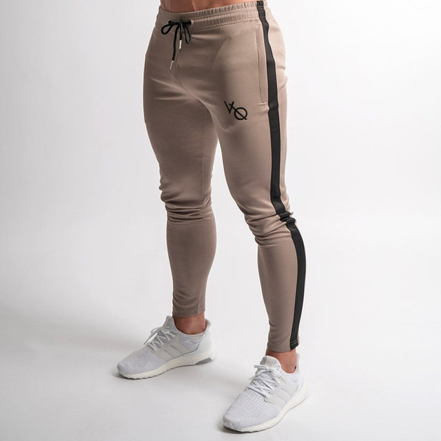 Outono Inverno Estilo Da Marca Mens Jogger Sweatpants Homem Academias de Ginástica Treino de Fitness Calças de Algodão Casuais Masculinos Moda Magro Calças de Pista