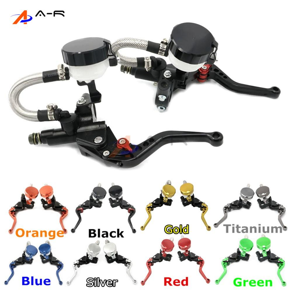 CNC 22MM 7/8'' Adjustable Clutch Brake Levers Master Cylinder Reservoir for Honda VTR1000F/FIRESTORM 1998-2005 04 03 02 01 00 99 gt motor f 18 v 00 adjustable brake clutch levers for honda vtr1000f firestorm cbf1000 vfr750 vf750s sabre vfr800 f