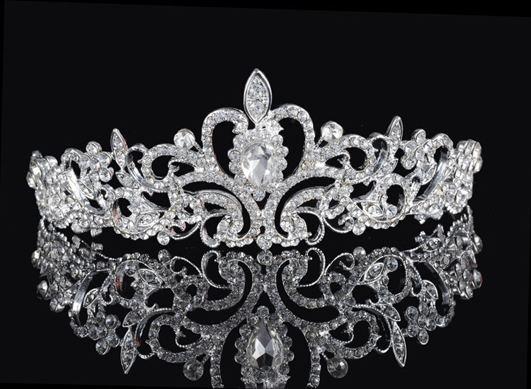 HTB1dh.gGFXXXXaWXVXXq6xXFXXXP Magnificent Bridal Prom Pageant Crystal Inlaid Queen Tiara Crown - 2 Styles