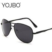 YOJBO Luxury Brand Designer Sunglasses Men Polarized Car Driving Sun Glasses Women Pilot Vintage Mirror Oversized Black Shades