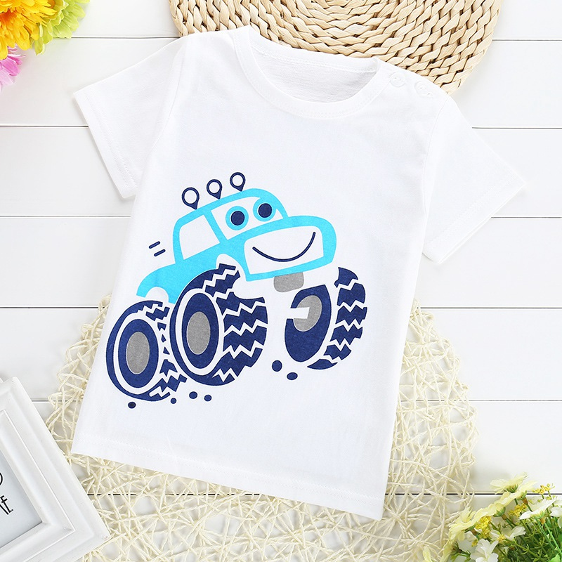 2016 Summer Casual Gilrs Boys Baby Children Infant,Babi Short Sleeved Printed  Tops T-shirt  MT795