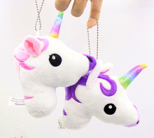 HOT pudcoco Newest Arrivals Hot Babies Unicorn Horse Keychain Keyring Bag Charm Pendant Color Lovely Small Pendant cheap Animals Stuffed Plush Unisex PP Cotton 3 years old Animals Animals Animals Soft