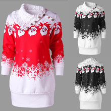 dfbaabc9fa5 Womens Christmas Santa Claus Snowflake Print Plus Size girl Tunic  Sweatshirt Dress Polyester female Casual Vestidos