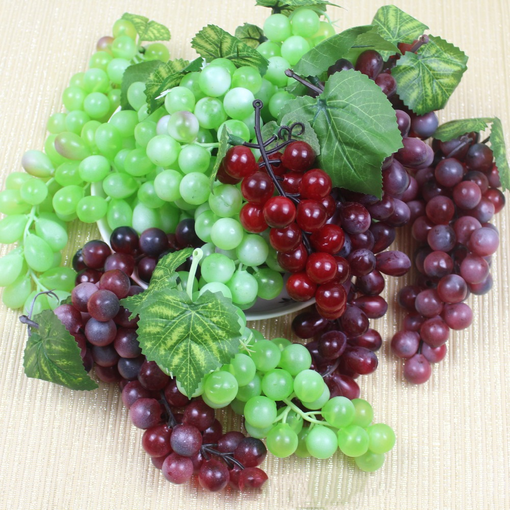 48 heads artificial fruit grapes plastic fake decorative for Artificial cherries decoration