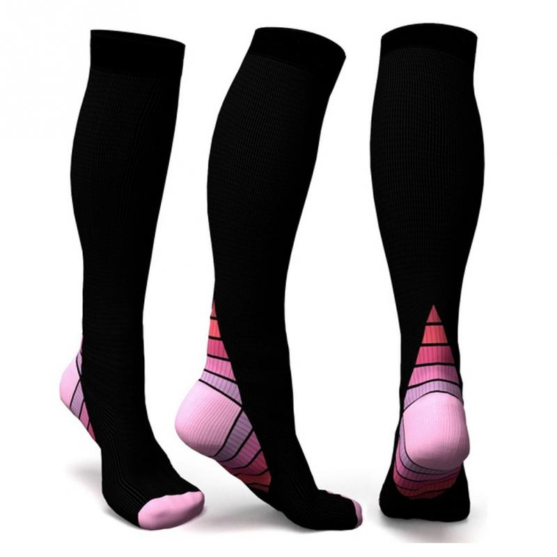 62e46e6bbd Sports Compression Socks Rugby Soccor Athletics Wearing Running Knee Hight  Socks Nurses Shin Splints Flight Travel Accessory-in Rugby Socks from  Sports ...