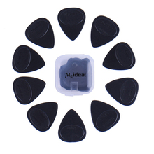 10Pcs 1Set Guitar Picks Pickup Different Thickness Bass Guitar Electric Guitarra Plectrums Accessories with plastic box package