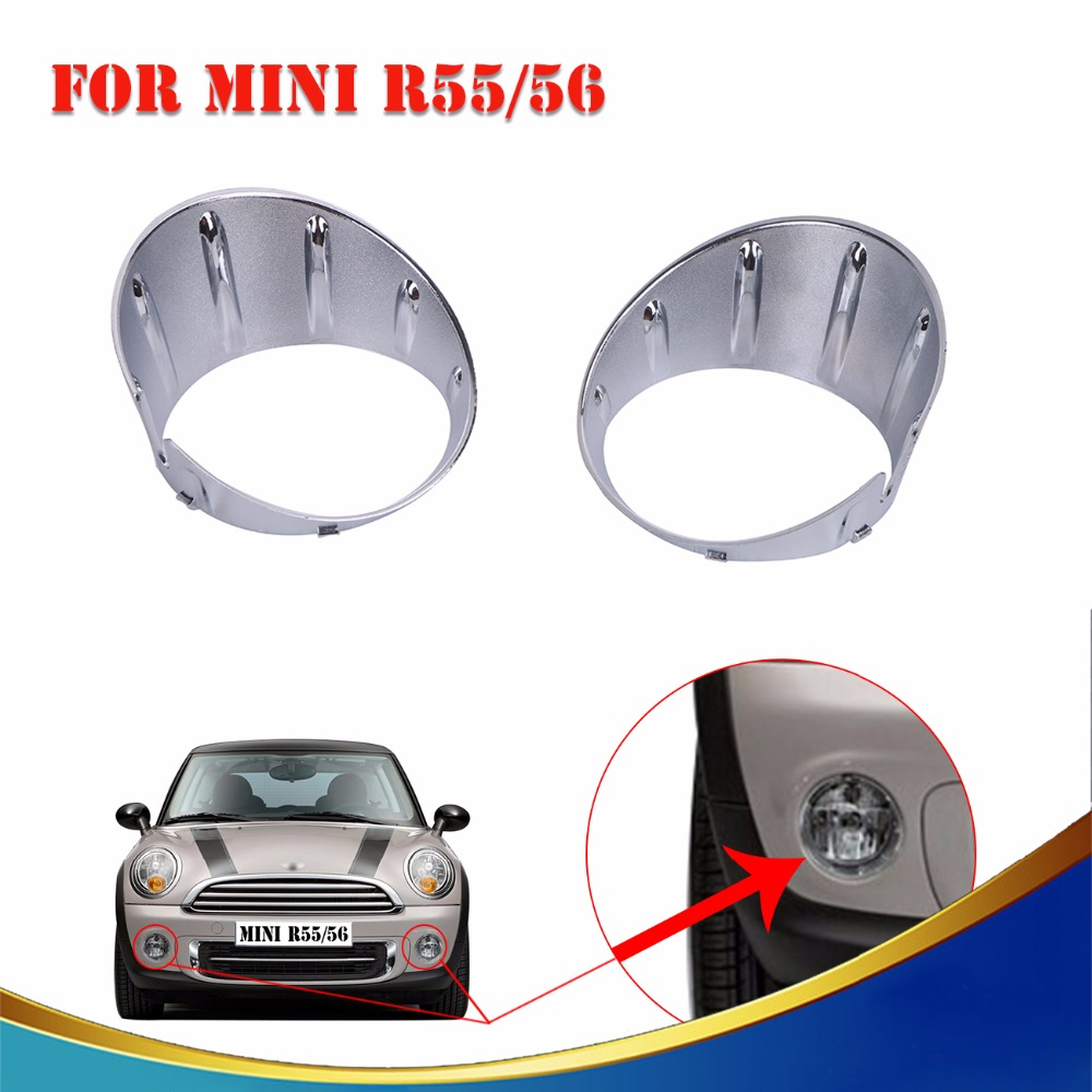 Chrome Front Fog light Surround Lamp Frame Cover Trim For BMW MINI One Cooper D LCI R55 R56 R57 R58 R59 //