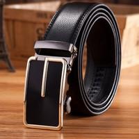 Long 160 Cm 2017 Men's Fashion Boutique High-end Brand Extension Business Belt / Metal Automatically Buckle Cowskin Male Belt