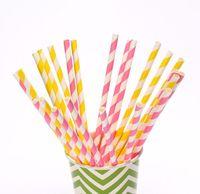 100 шт. и 235 цвет питьевой бумаги Colin шеврон горошек поло звезда в форме сердца кора поливать цветок ну украшения