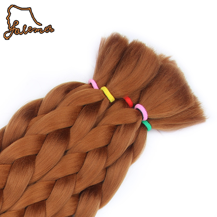 FALEMEI 6pack 82Inch Synthetic Braiding Hair Extensions Kanekalon Jumbo Braids Colors synthetic hair for dolls crotchet braids
