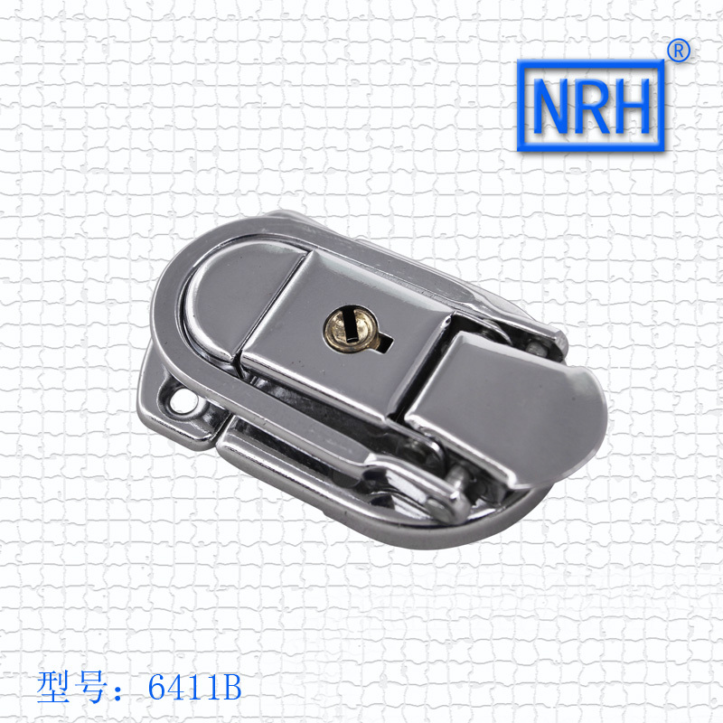 NRH 6411B Steel Chrome Plating Toggle Draw Latch With 2 Keys For Briefcase & Suitcase 2pack Toggle Latch Hasp Wholesale Price