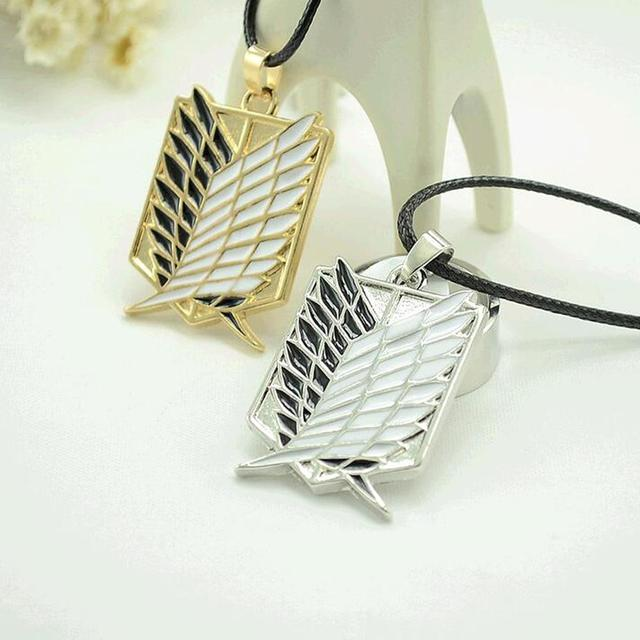 Anime attack on the wings of freedom necklace Shingeki no Kyojin necklace