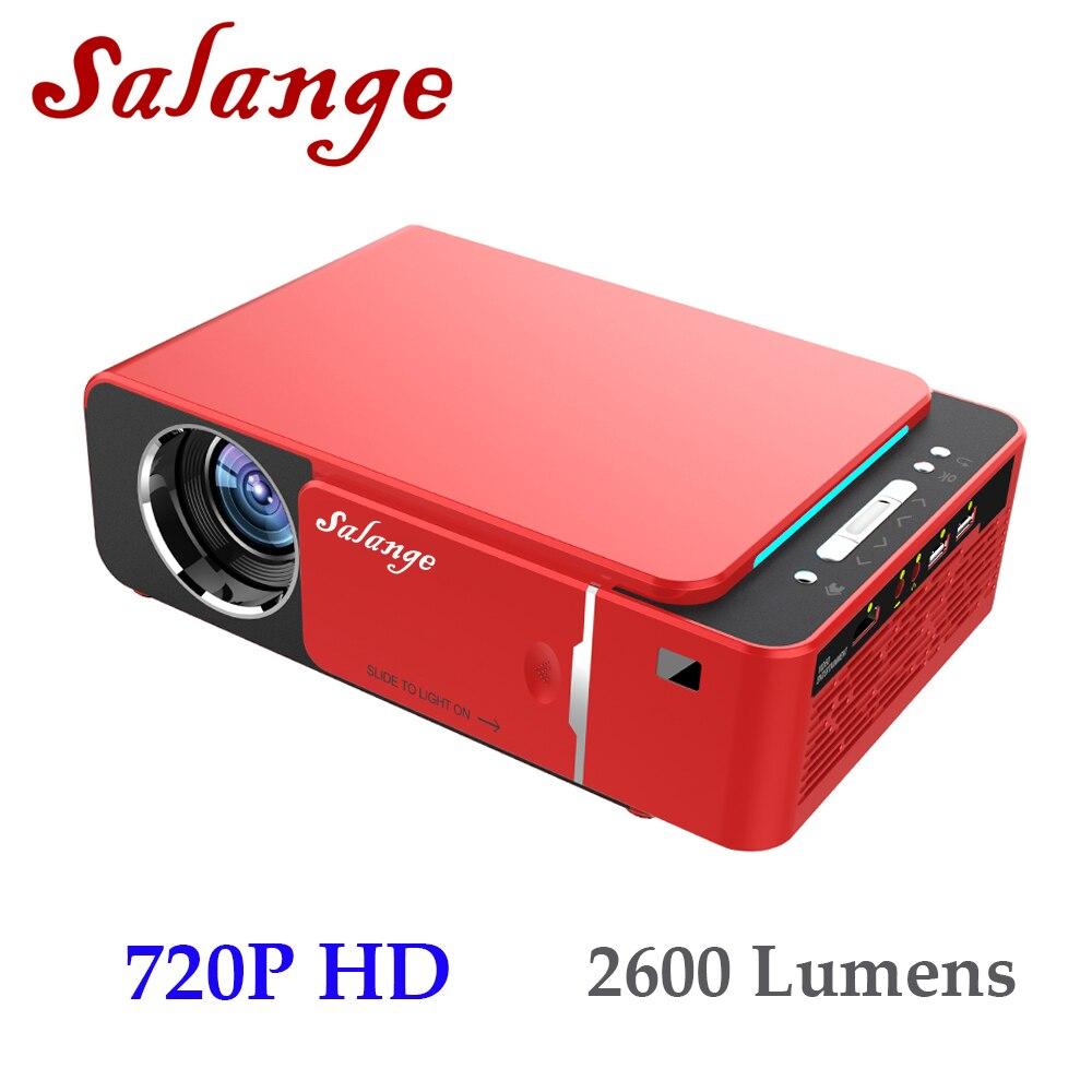 Salange P20 720 P HD Proiettore 2600 Lumen Android 7.1 HDMI USB AV VGA Home Theater Video Beamer Supporto Sycn LED Projecteur