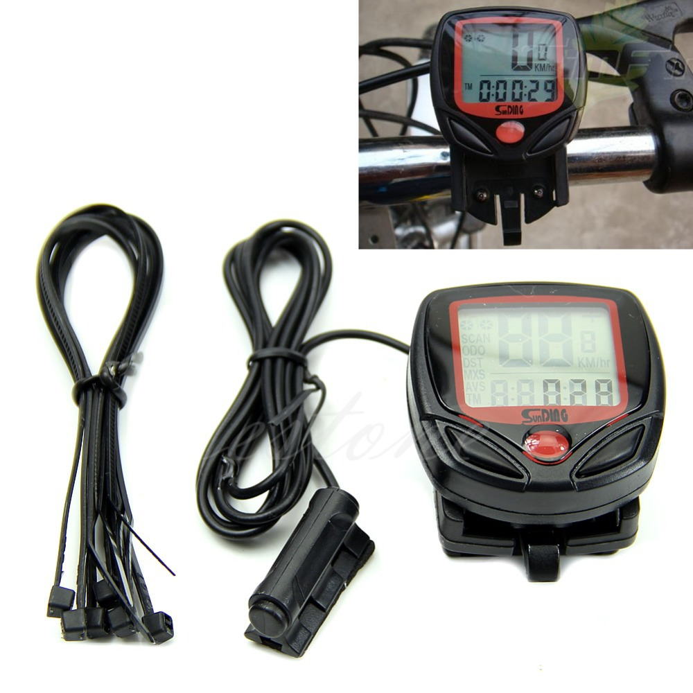 B39 New Waterproof Digital LCD Computer Cycle Bicycle Bike Speedometer Odometer