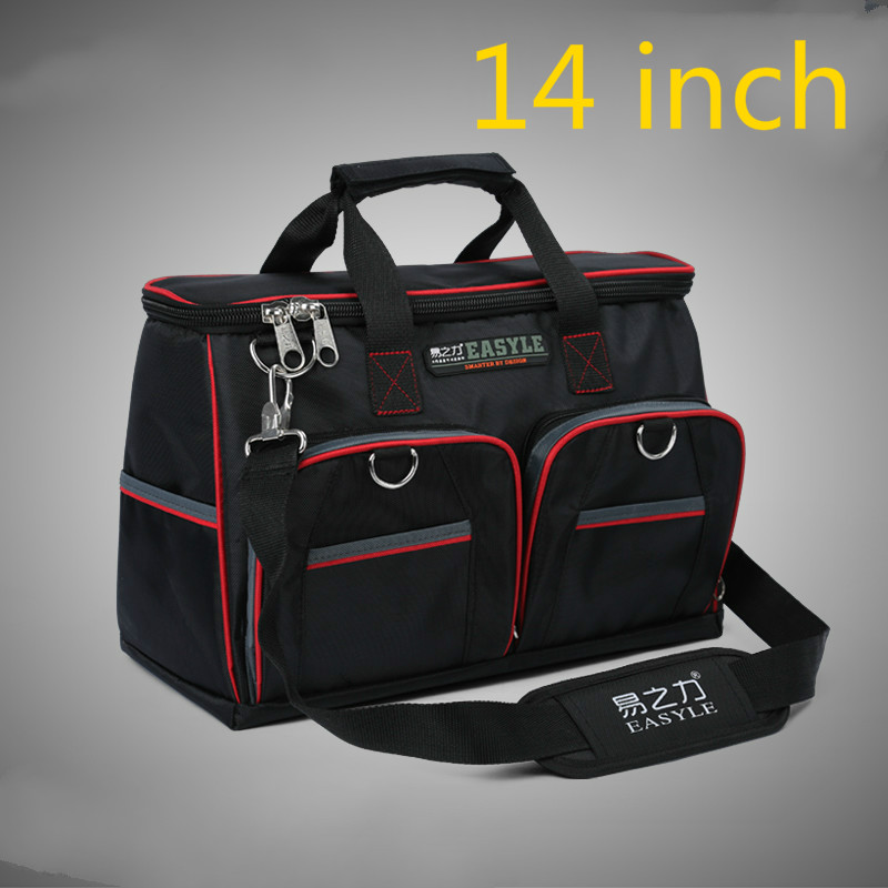 1pcs 14 Inch Appliances Electrical Repair Bag After Sales Tool Bag Oxford Cloth Double Canvas Thickening Tool Kit 14 inch oxford cloth canvas multifunction hand shoulder tool bag hardware repair kit