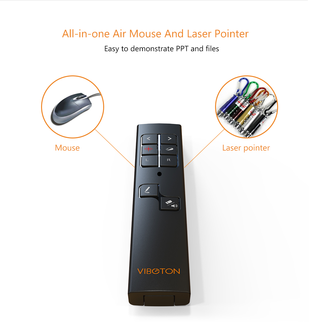 Thundeal 24g Rf Wireless Presenter Laser Pointers Pen Air Mouse Ppt Pointer Pp 1000 1x 930 Usb Receiver Cable Users Manual