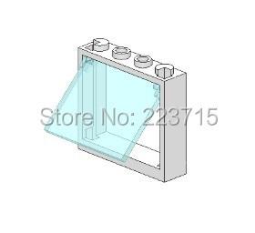 *Window 1x4x3 w. Glass* 10pcs DIY enlighten block brick part No.86210 Compatible With Other Assembles Particles free shipping manor 3 diy enlighten block bricks compatible with other assembles particles