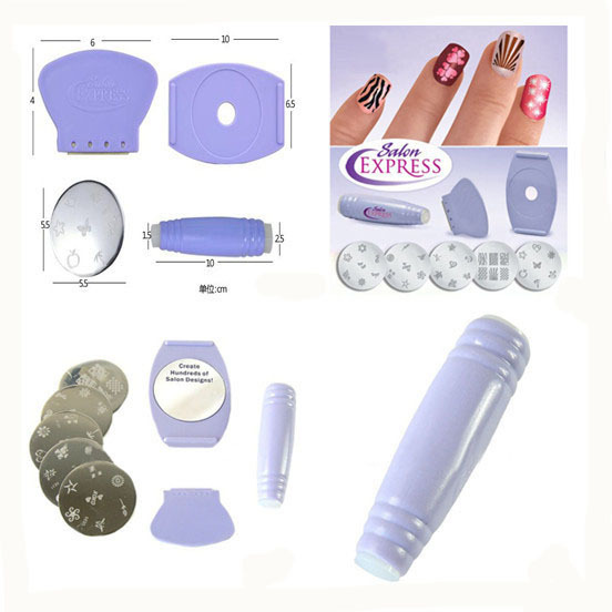 Pro Salon Home Nail Art Equipment Stamp Tool Polish DIY Stamping Design Decoration Kit Set For Women In From Beauty Health On