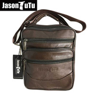 JASON TUTU Brand Genuine Leather Men Bag Small Shoulder Travel Crossbody Bag Male Messenger Bag For