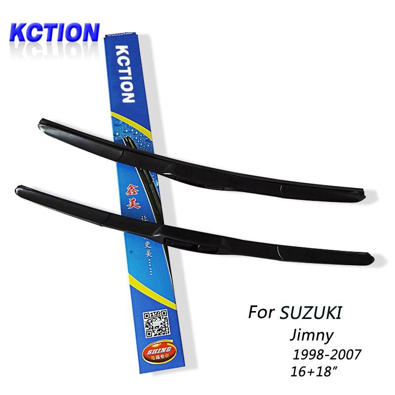 Pare-Brise de voiture D'essuie-Glace Lame Pour SUZUKI jimny (1998-2007), 16 + 18, caoutchouc Naturel, trois-type segmentaire, Accessoires de voiture