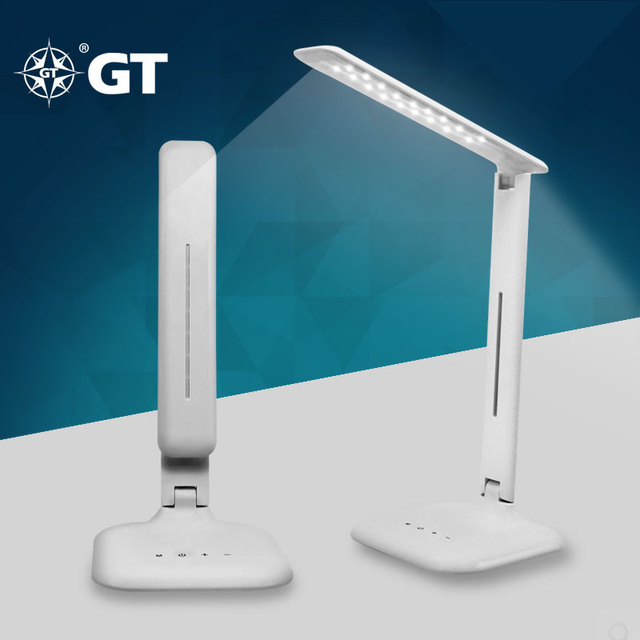 GT Lite Reading Lamps,Dimmable LED Desk Lamp Daylight White Rechargeable  Eye Care