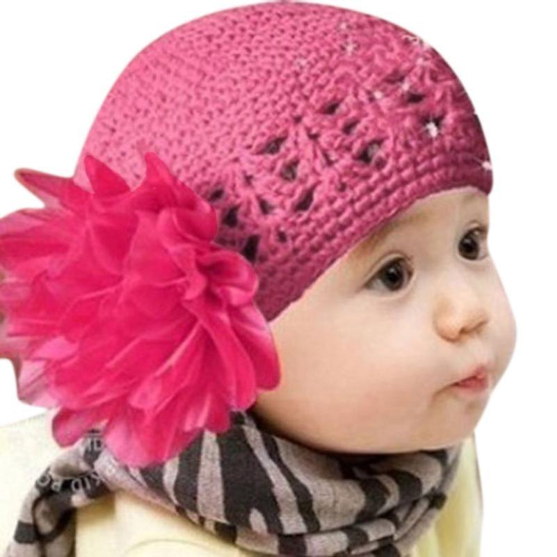 Heißer Chamsgend Neugeborenen Stricken Woolen Garn Blume Mädchen