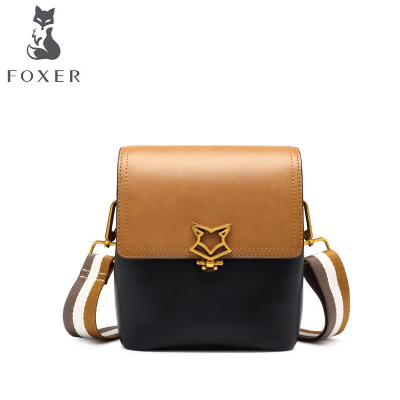 2018 New FOXER women leather bag fashion luxury bags women famous brands handbags women famous brands shoulder Crossbody bags 2015 hot sell famous brand women bag foxer genuine leather fashion women handbags women alligator zipper shoulder bags