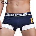 Taddlee marca sexy men underwear boxer shorts mens underwear boxers trunks algodón bolsa pene wj u convexa hombre calzoncillos cintura