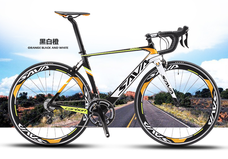 Original X-Front Brand Full Carbon Fibre Road Bike 18 20 22 Speed 700cc*23C Racing Bicicleta Light Black Yellow Bicycle