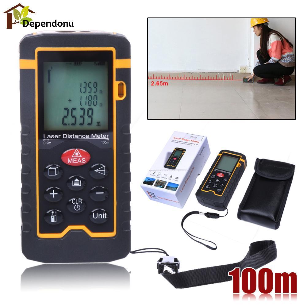 Laser Distance Meter100M/328ft/3937  Rangefinder Digital Laser Tape Range Finder Trena Ruler Build Measure Area/Volume Ruler