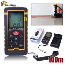 Big discount Laser Distance Meter100M/328ft/3937  Rangefinder Digital Laser Tape Range Finder Trena Ruler Build Measure Area/Volume Ruler