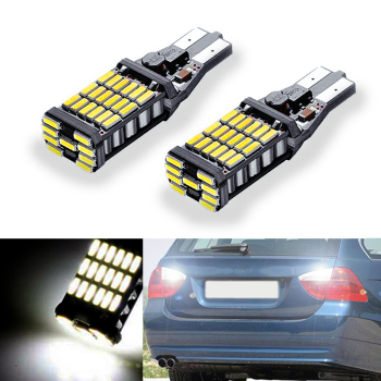 2x W16W T15 LED 15 SMD Bulb Car Reverse Light Tail Light Canbus Light for BMW 5 Series E60 E61 F10 F11 F07 E39 E90 Mini Cooper image