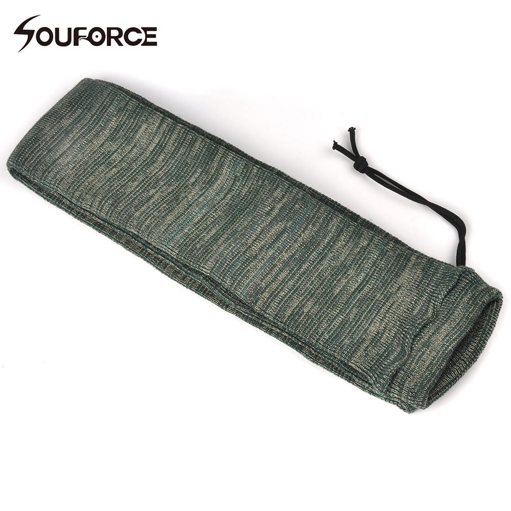 54 inch geweer Knit Air Gun Sock Polyester siliconen behandeld geweer Protector Shotgun Cover Case Storage Sleeve