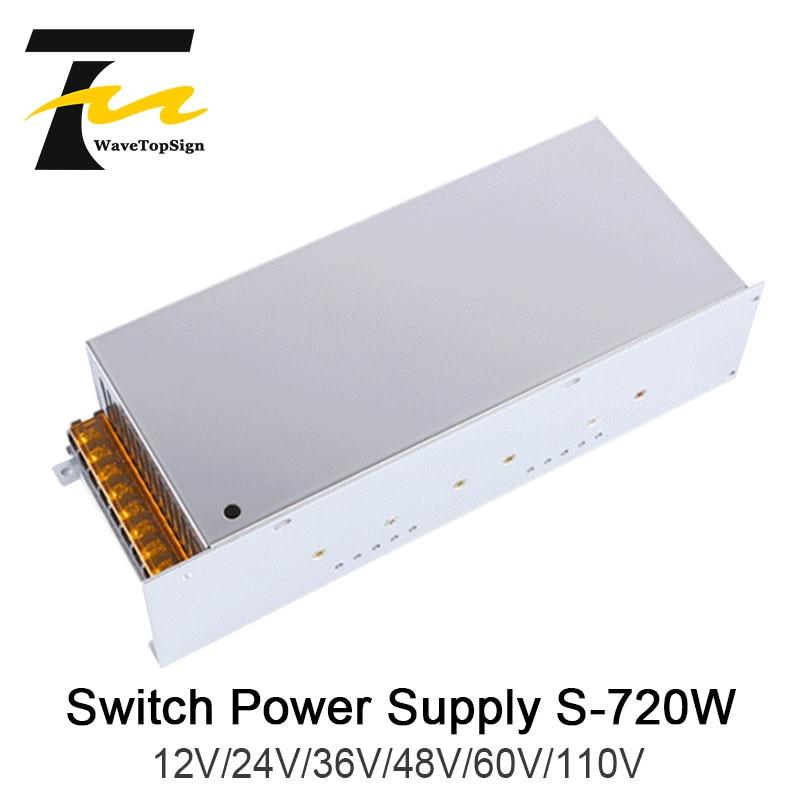 WaveTopSign 720 W DC tension réglable haute puissance alimentation à découpage sortie VDC 12 V 24 V 36 V 48 V 60 V entrée AC220V