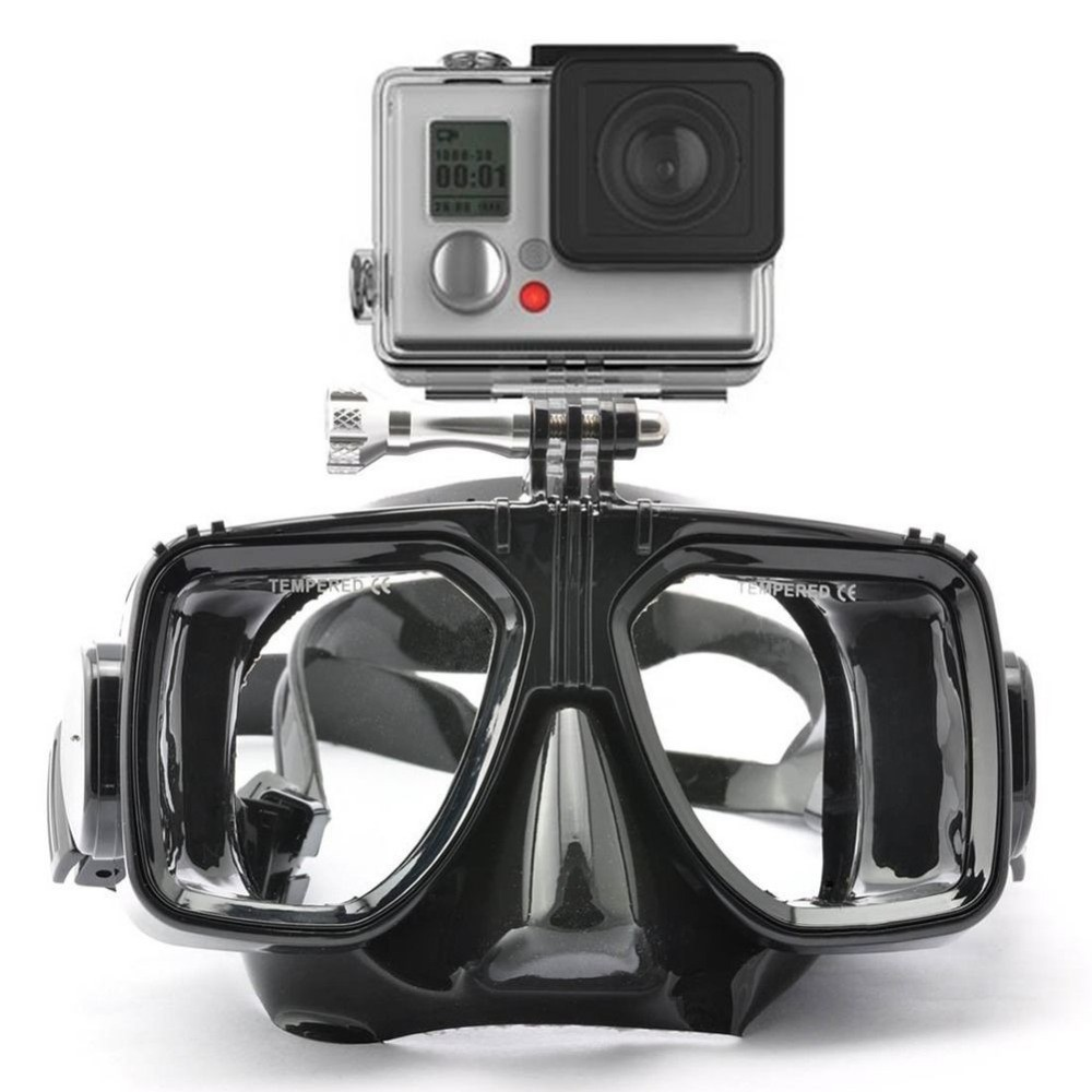 Galleria fotografica For Gopro Diving Mask Goggles Snorkel Swimming Tempered Glasse For GoPro Hero 6 Hero5 Hero 3 3+ 4 XiaoYi Action Camera Accessory