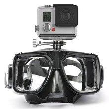 Para Máscara de Buceo Gafas de Natación Snorkel Templado Glasse Para GoPro Gopro héroe 6 Héroe 3 3 + 4 XiaoYi Hero5 Acción Accesorios de La Cámara