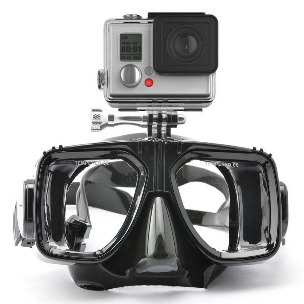 Pour Gopro Plongée Masque Lunettes Tuba Engrenages De Natation Trempé Glasse Pour GoPro Hero7/6 Hero5 XiaoYi D'action Caméra Accessoire