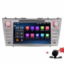 """4 ядра 8 """"1024*600 2 DIN Android 6.0.1 Аудиомагнитолы автомобильные GPS радио для Toyota Camry 2007-2011 Automotivo плеер головного устройства Стерео"""
