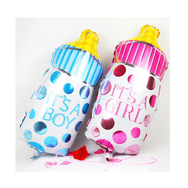 5Pcs/Set Boy Girl Baby Shower Foil Giant Christening Super Shape Balloons Party Decoration Kids #87431