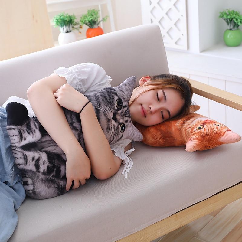 HTB1dh2ObEuF3KVjSZK9q6zVtXXaV LREA New 50CM cojines Plush Toy Cute Expression Simulation Cat Pillow Bedroom Sofa Decorations Cushion